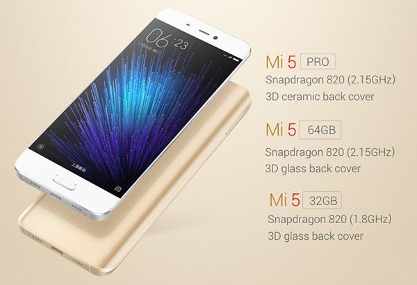 Cấu hình Xiaomi Mi 5