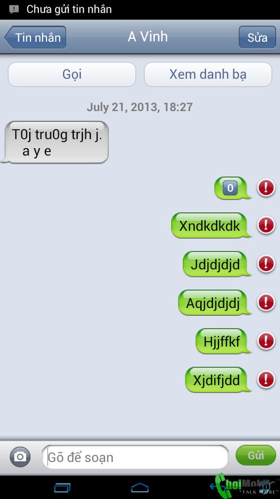 Sửa lỗi điện thoại sky a830 không gửi được tin nhắn